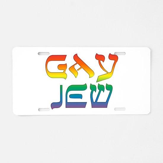 Gay Jew Aluminum License Plate