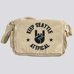Keep Seattle Atypical Messenger Bag