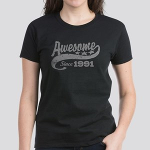 Awesome Since 1991 Women's Dark T-Shirt