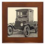 Antique Auto Car Photograph Framed Tile