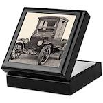 Antique Auto Car Photograph Keepsake Box