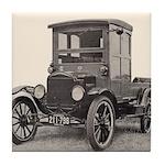 Antique Auto Car Photograph Tile Coaster