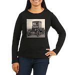 Antique Auto Car Photograph Women's Long Sleeve Da