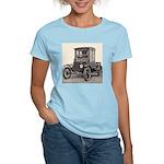 Antique Auto Car Photograph Women's Pink T-Shirt