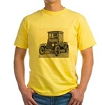 Antique Auto Car Photograph Yellow T-Shirt