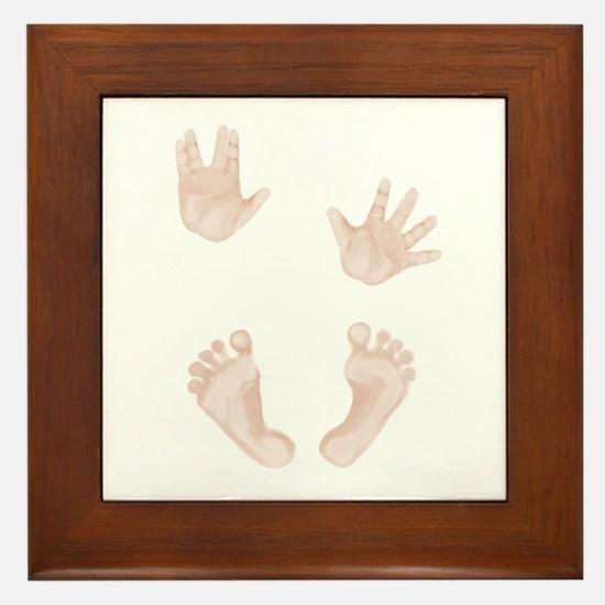 Baby Trekkie Design 2 Framed Tile