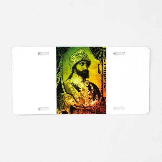 Haile Selassie Aluminum License Plate