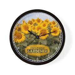 Extreme Gardener Wall Clock