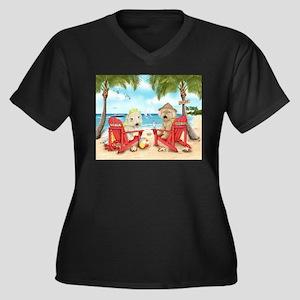 Loving Key West Women's Plus Size V-Neck Dark T-Sh