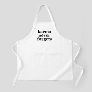 Karma Never Forgets Apron