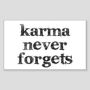 Karma Never Forgets Sticker