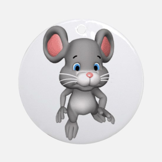 Quiet Mouse Ornament (Round)