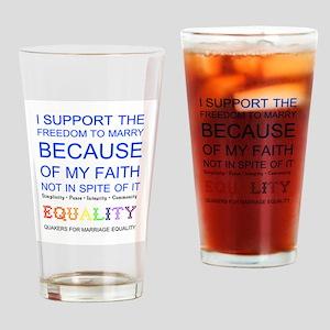 Quaker Marriage Equality Cross Stitch Drinking Gla