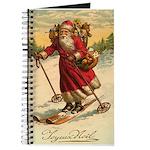 Santa on Skis Vintage Christm Journal