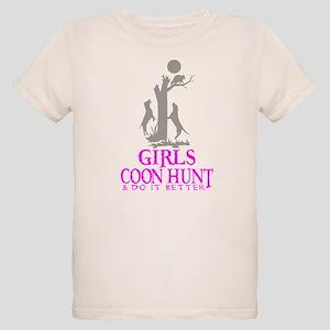 68598a08 Raccoon Hunting Organic Kids T-Shirts - CafePress