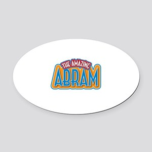 The Amazing Abram Oval Car Magnet