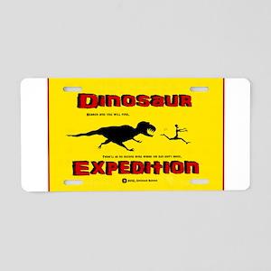 Dinosaur Expedition Runner Aluminum License Plate