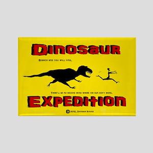 Dinosaur Expedition Runner Rectangle Magnet