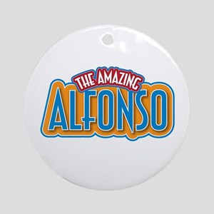 The Amazing Alfonso Ornament (Round)