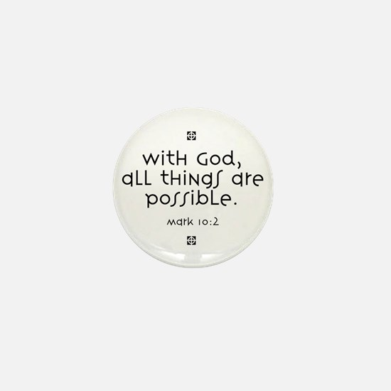 With God Mini Button