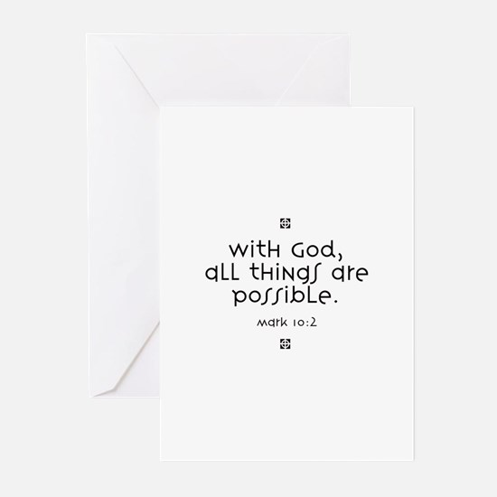 With God Greeting Cards (Pk of 10)
