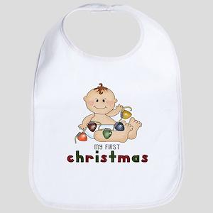 First Christmas (Boy Design 2) Bib