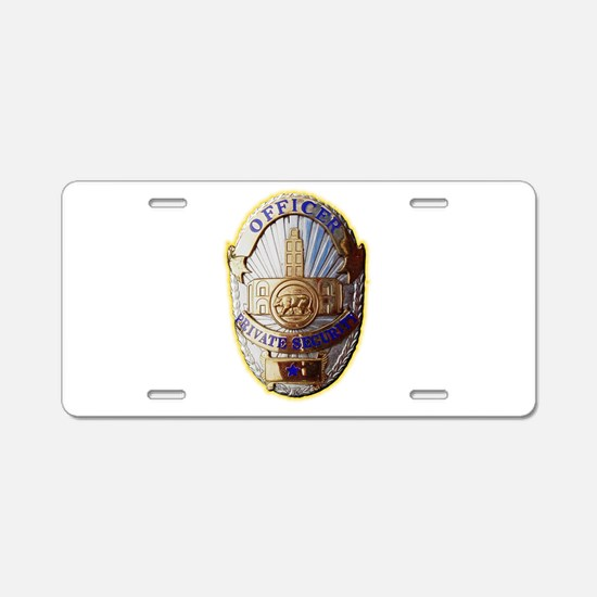 Private Security Officer Aluminum License Plate