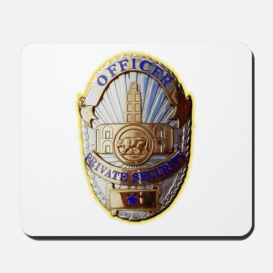 Private Security Officer Mousepad