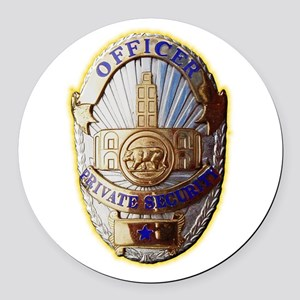 Private Security Officer Round Car Magnet