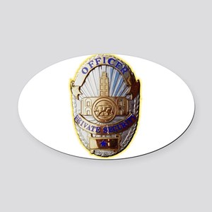 Private Security Officer Oval Car Magnet