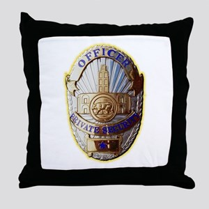 Private Security Officer Throw Pillow