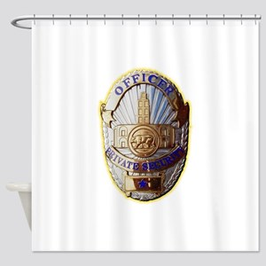 Private Security Officer Shower Curtain