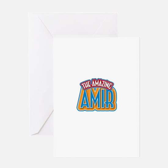 The Amazing Amir Greeting Card