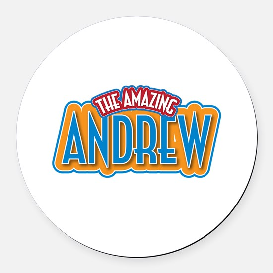 The Amazing Andrew Round Car Magnet