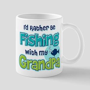 Rather Be Fishing Grandpa Mug