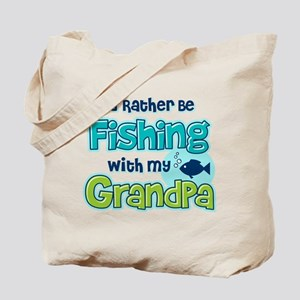 Rather Be Fishing Grandpa Tote Bag