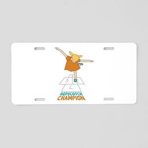 Hopscotch Champion Aluminum License Plate