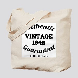 Authentic Vintage Birthday 1948 Tote Bag