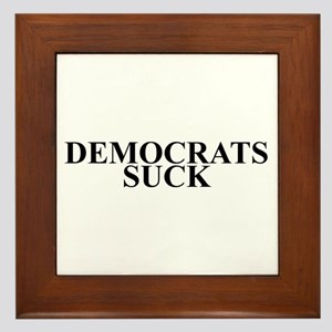 Democrats Suck Framed Tile