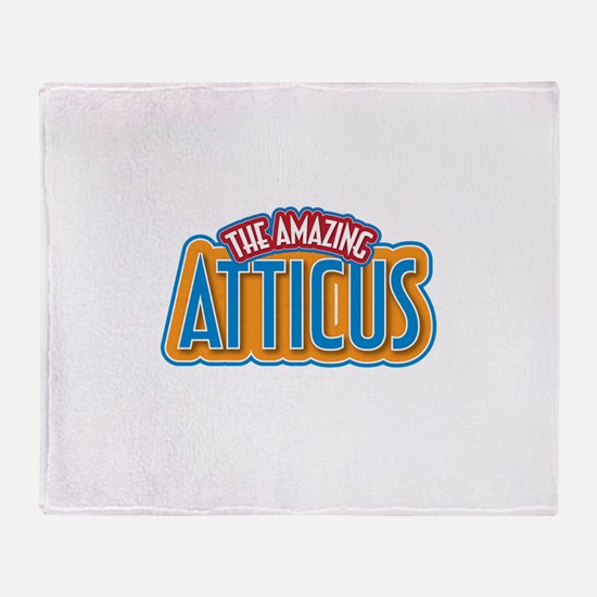 The Amazing Atticus Throw Blanket