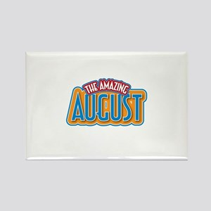 The Amazing August Rectangle Magnet