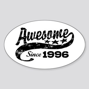 Awesome Since 1996 Sticker (Oval)