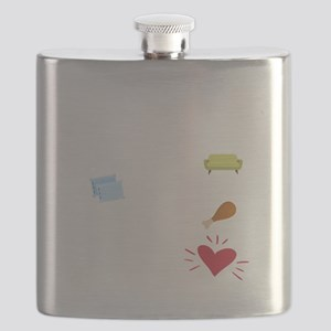 Shih Tzu Heart Flask
