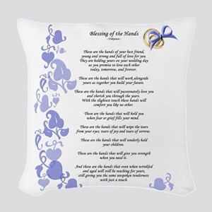 Blessing of the Hands Woven Throw Pillow