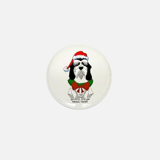 PBGV Christmas Mini Button