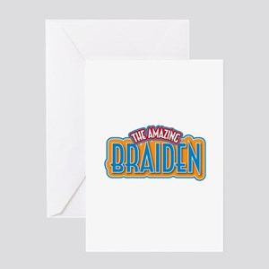 The Amazing Braiden Greeting Card