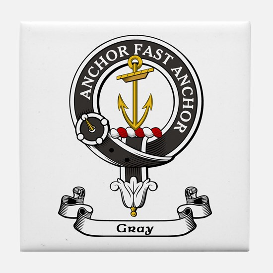 Badge-Gray [Perth] Tile Coaster