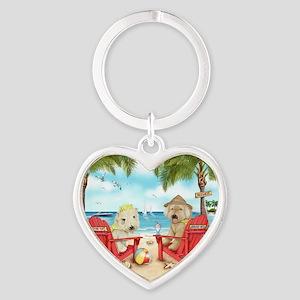 Loving Key West Heart Keychain