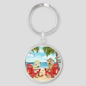 Loving Key West Round Keychain