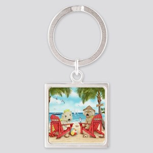 Loving Key West Square Keychain